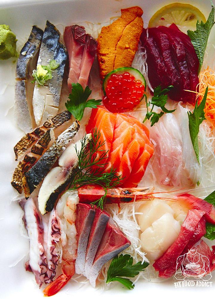 Sashimi healthy meal