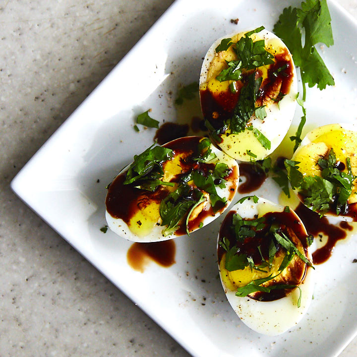 Boiled Eggs with Balsamic